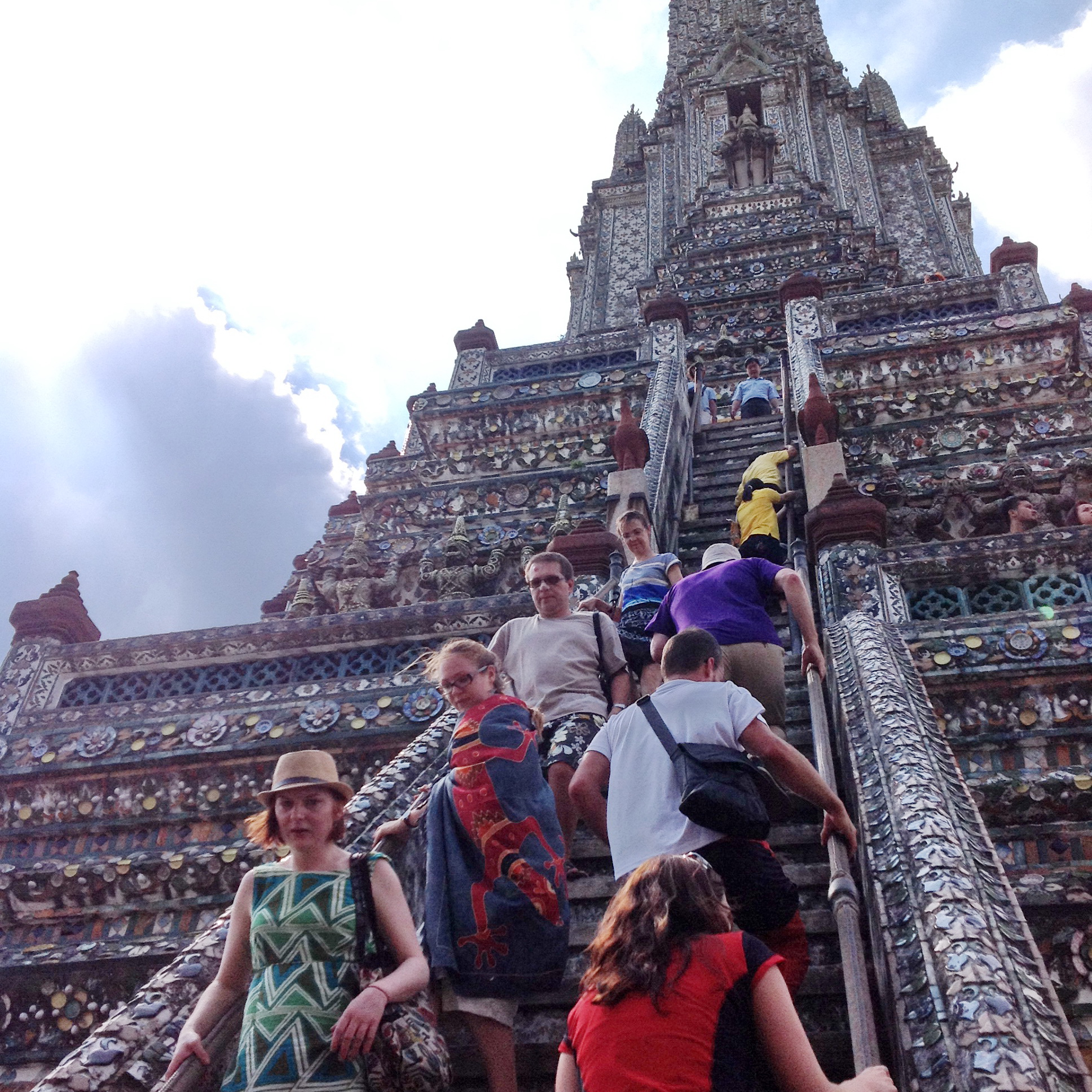 Climbing up Wat Arun
