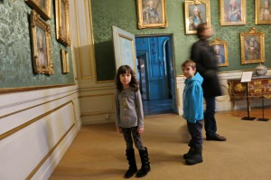 "My ""curly-haired"" daughter and her classmate look at royal portraits and wonder why princes wore gowns like princesses."