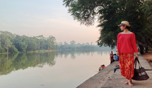 Beh outside angkor wat