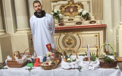 Easter eggs and holy water