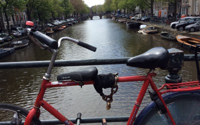 Amsterdam's crazy bikers