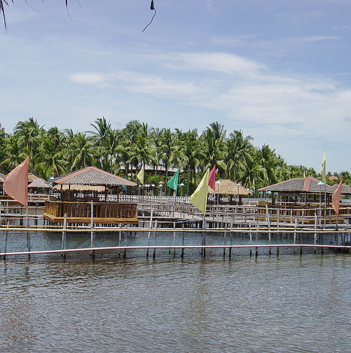 Dining in huts on stilts