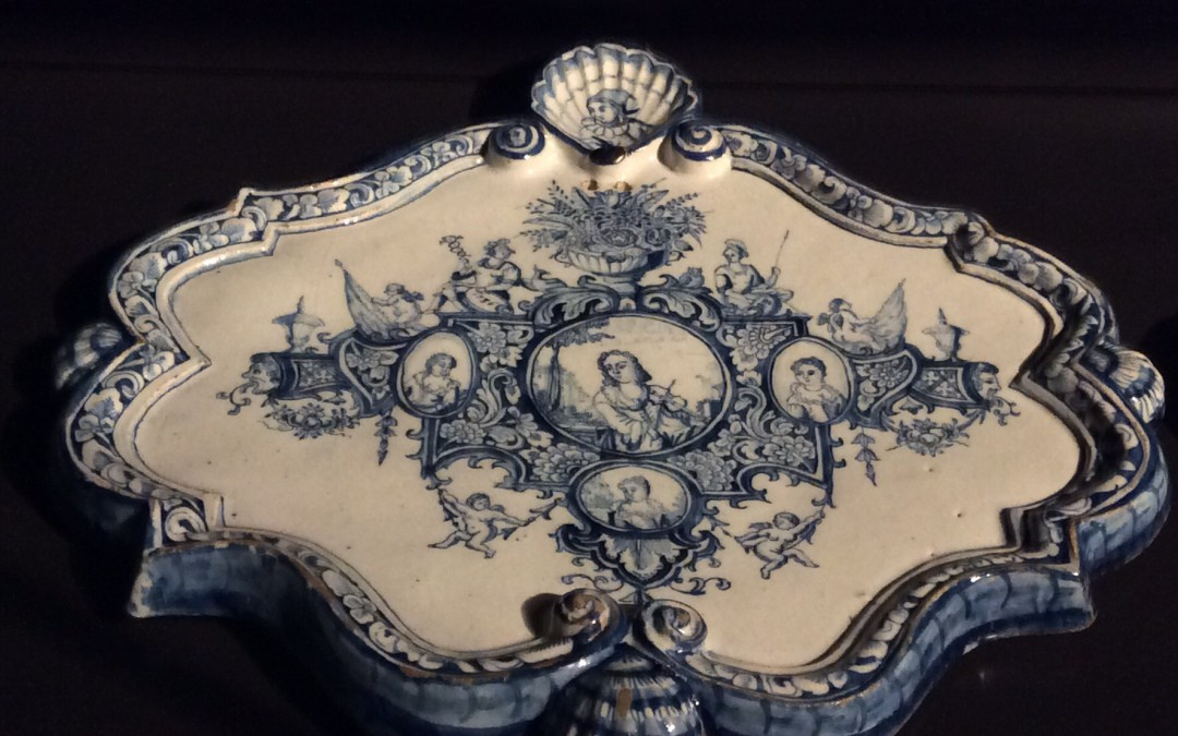 Blue-and-white delftware